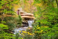 la casa de la cascada fallingwater pensilvania