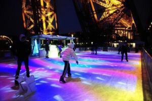 Eislaufen auf dem Eiffelturm - Wer traut sich?