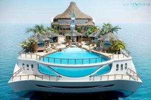 Luxe Tropical island Paradise un yacht incroyable