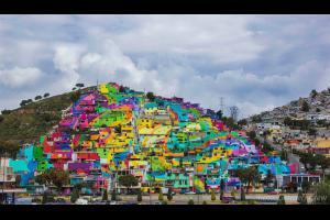 Le street-art embellit un quartier pauvre mexicain