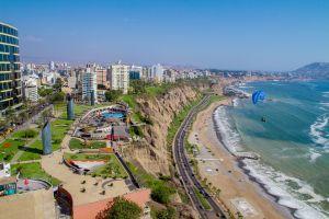 Video gives drone tour Lima Peru