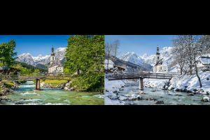 El fascinante contraste entre el verano y el invierno