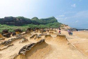 Der Planet Mars auf der Erde Taiwans Yehliu Geopark