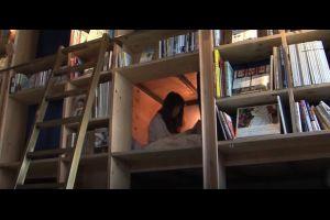 libreria hotel japonesa dormir entre libros
