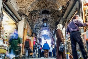 Syrian city Aleppo and most famous souk destroyed by civil war