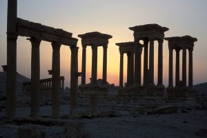 Palmyra amphitheatre destroyed by ISIS in Syria