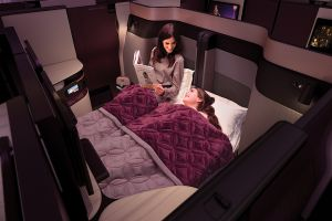 Qatar Airways airline launches new luxury business class seats double beds
