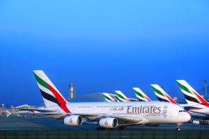 L'A380 arrive à Nice avec la compagnie aérienne Emirates