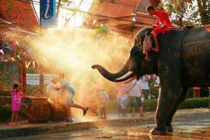 Songkran thai water festival Thailand Bangkok chang mai