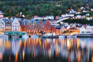 magníficos paisajes de las costas de noruega