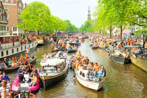places to go europe spring netherlands kings day festival
