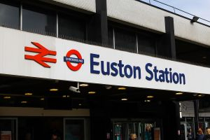 Euston station trackside fire train disruptions
