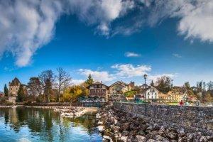 Beautiful alpine towns