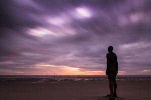 playa Crosby para meditar y contemplar