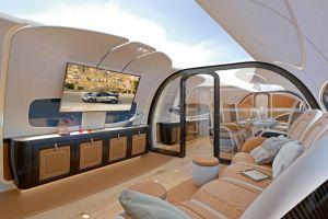 airbus crea un jet privado con techo panoramico