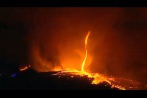 Incendie Portugal un tourbillon en feu apparaît