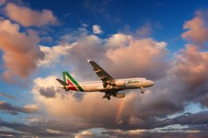Runway fashion for Italy's largest airline