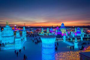 scultura ghiaccio Harbin Cina