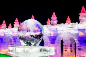 Das Eis-Festival in Harbin öffnet seine Türen für Besucher
