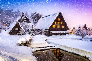 Ein Feen-Dorf direkt aus der Schneekönigin in Japan