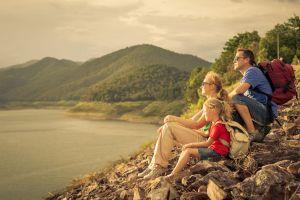 Familie macht eine Weltreise