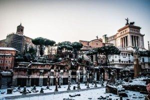 Vague de froid neige à Rome