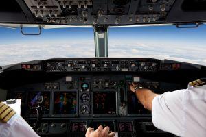 Images choc d'un accident dans le cockpit d'un avion
