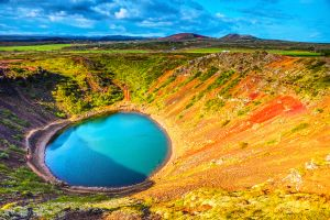Islande  magnifique cratère Kerid