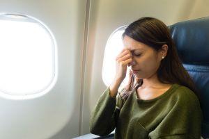Casque anti-stress dans l'avion