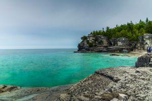 Die Bruce Peninsula Eine kleine Miniatur von Kanada