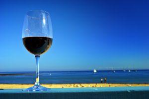 Vin bleu en vente