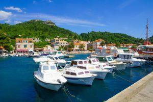viaggio verso Lopud isola croata appartenente arcipelago Elafiti