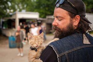Sauvé d'un incendie, un chaton fait un road-trip avec son ange-gardien