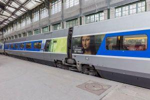 Le TGV Milan-Paris aux couleurs de Léonard de Vinci