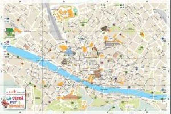 Cartina Citta Di Firenze.Firenze Una Mappa A Misura Di Bambino Easyviaggio