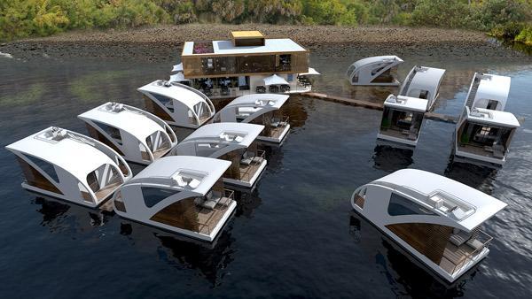 Dormez dans des chambres-catamarans