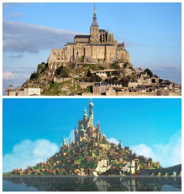 El Mont Saint-Michel y el Palacio Real de Enredados