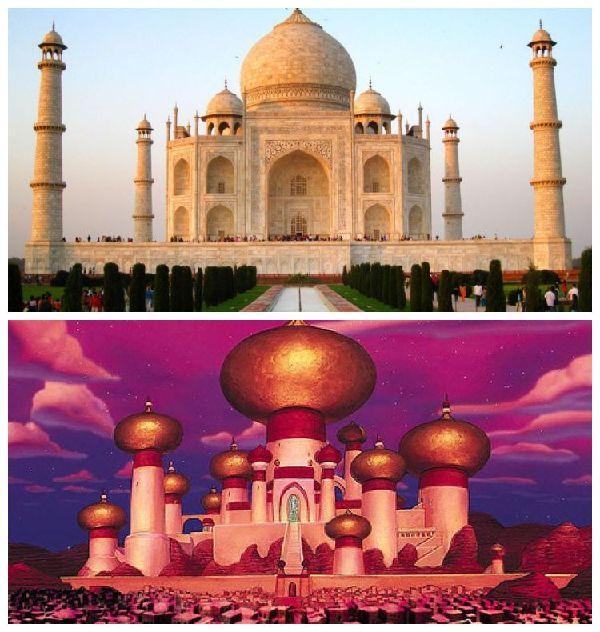 El Taj Mahal y el Palacio del Sultán en Aladdín