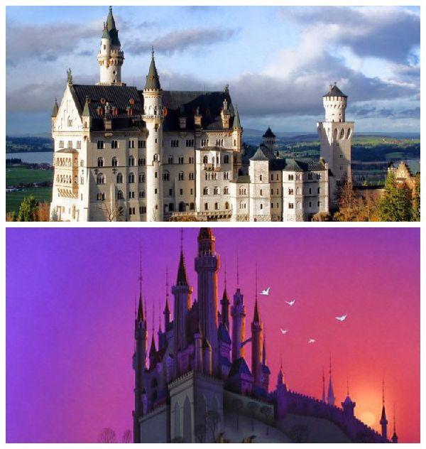 El Castillo de Neuschwanstein y el Castillo de la Bella Durmiente