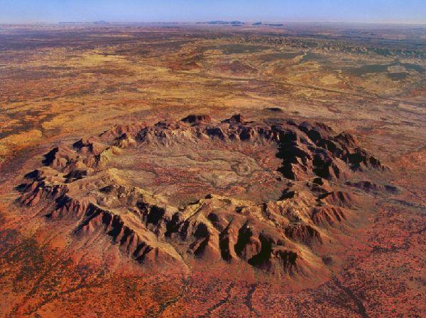 Le cratère de Gosses Bluff en Australie