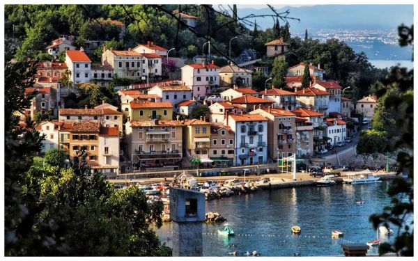 The Istrian peninsula is surrounded by the Adriatic Sea