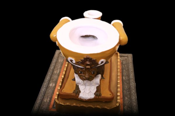 Baños Publicos Originales:Sulabh Toilet Museum of Toilets VÁTER ADORNADO NUEVA DELHI