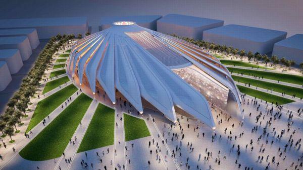 Le Pavillon des Emirats Arabes Unis