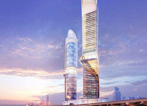 Les deux tours du Rosemont Hotel & Residences Dubai
