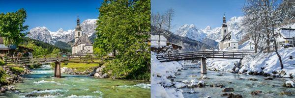 La neige métamorphose les plus beaux paysages de la planète