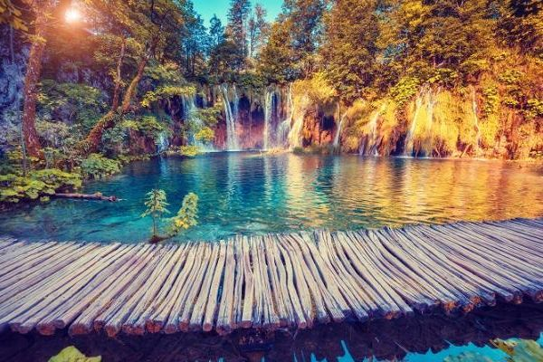 Parco Nazionale dei laghi di Plitvice, in Croazia