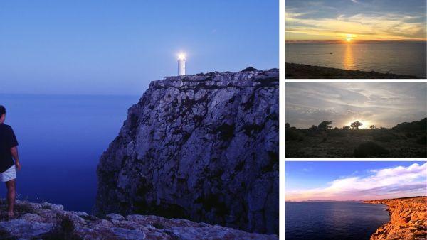 Los senderos de Formentera, alumbrados a la luz de la luna llena