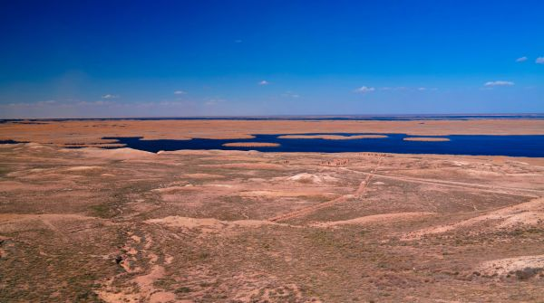 Mysteriöse Insel im Aralsee