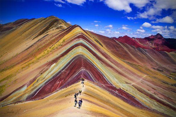 Une montagne multicolore