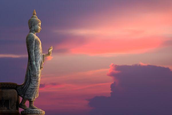 Un bouddha voyageur bien parti pour faire le tour du monde